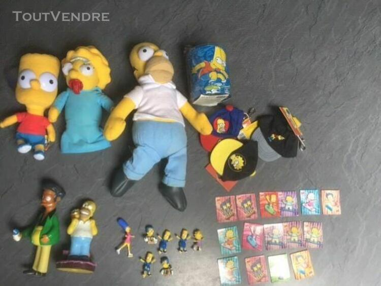 lot simpsons (peluches simpsons, magnets simpsons, figurines