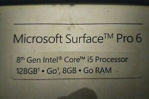 microsoft surface pro 6 128 go