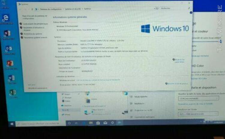 """Pc portable 15"""" lenovo e550 i7 8go windows 10 ecran 1920*108"""