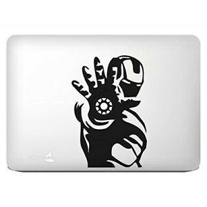 "sticker ""iron man apple power 2"" noir pour macbook 13,3"
