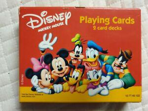 Jeu de cartes disney minnie mickey donald pluto dingo 2 x 52