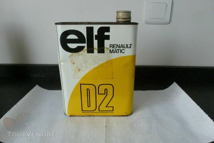 Bidon ancien boite pot bouteille huile graisse antigel elf r