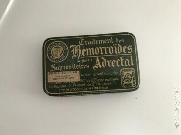 Boite ancienne medicament hémorroides