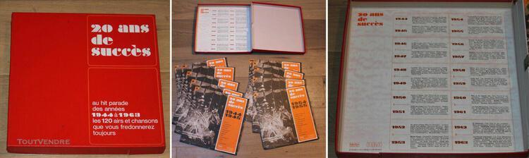 Coffret 10 x 33t 20 ans de succès - 1944-1963 - lp - (vg+/n