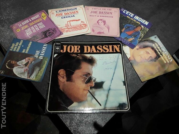 Joe dassin, vinyles, 1 x 33t + 6 x 45t + 2 cd