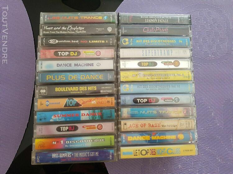 Lot cassette dance compilation top dj dance machine des