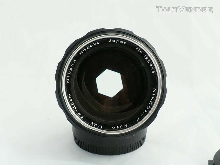 Nikon nikkor-p auto 10.5 cm 105 mm f/2.5 lens pat pend paten