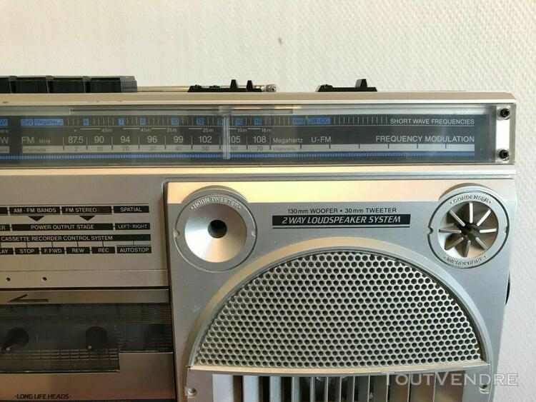 Philips d 8134 retro 4 bande stéréo radio boom box ghetto