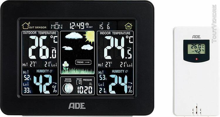 Ade station météo ws 1503 avec radio et capteur extérieur