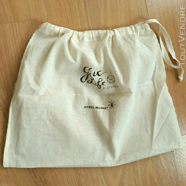 """Dust bag """"isabel marant"""" 33,5 x 27,5 -coton- housse anti-pou"""