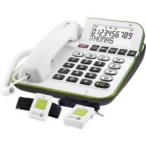 Téléphone filaire pour séniors doro secure 350 blanc