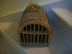 Cage de transport en osier pour animaux, chat chien ou autre