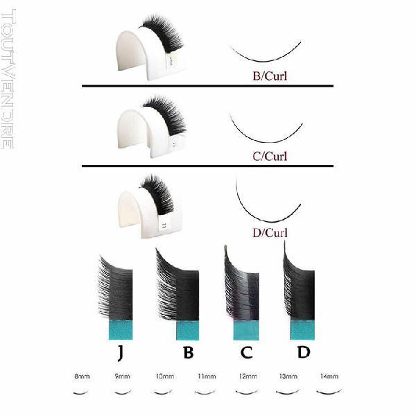 Faux cils, 3d- 6d volume russe effet, silk lashes c curl