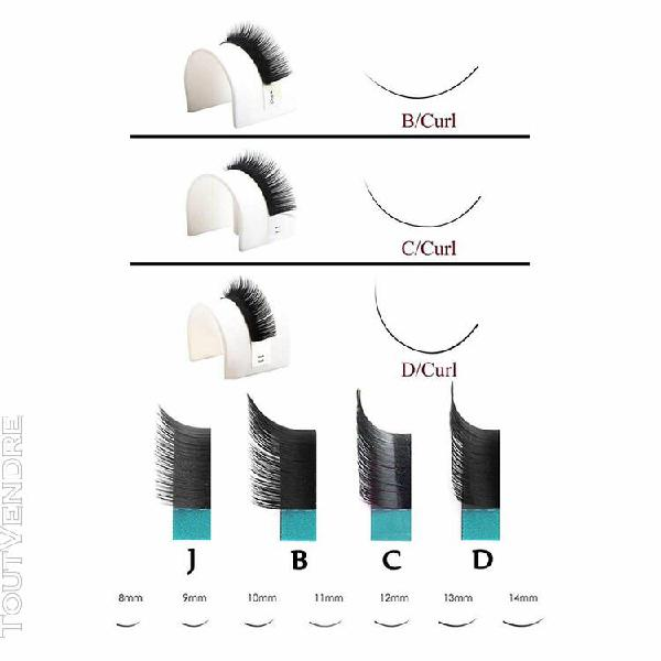 Faux cils, 3d 6d volume russe effet, silk lashes c curl