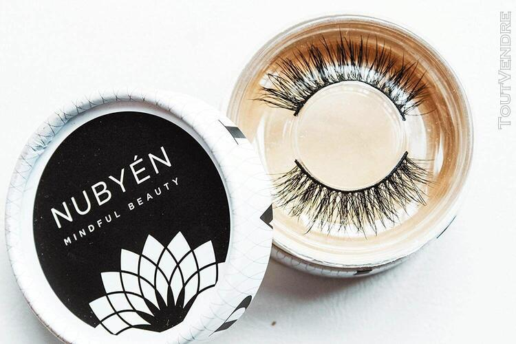 Nubyen 3d false eyelashes natural protein fibre look for mak