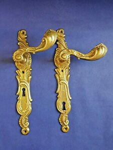 Paire de poignées bronze avec plaque ref a 107