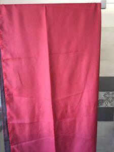 Voilage rideaux 140x240 cm double face bordeaux /noir