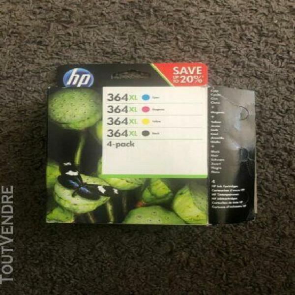 Cartouche hp 364 xl, pack de 4 cartouches d'encre, noir/mage