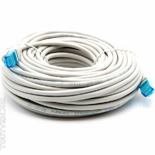 Câble réseau gigabit ethernet rj45 cat 5e u/utp 20m -