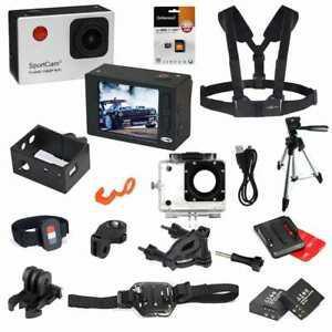 Pack action cam wifi full hd sportcam2 140° avec 2