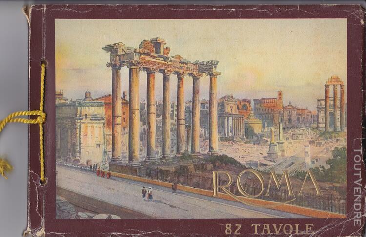 Ancien livre album artistique n°60 roma 1937 cesare capello