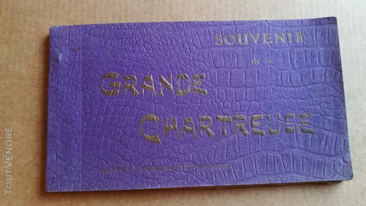 Carnet carte monastère la grande chartreuse dauphiné