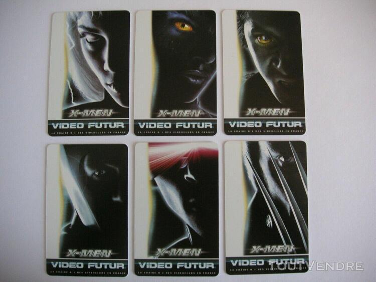 Carte video futur - vf 156 a-b-c-d-e-f - x-men