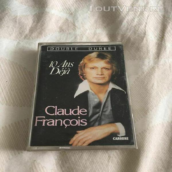 Cassette audio claude francois 10 ans déjà♥