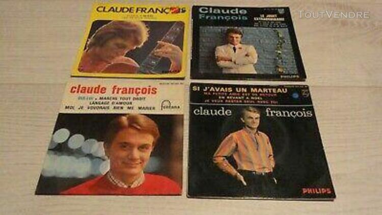 Claude francois petit lot de 4 x ep 45 t sixties
