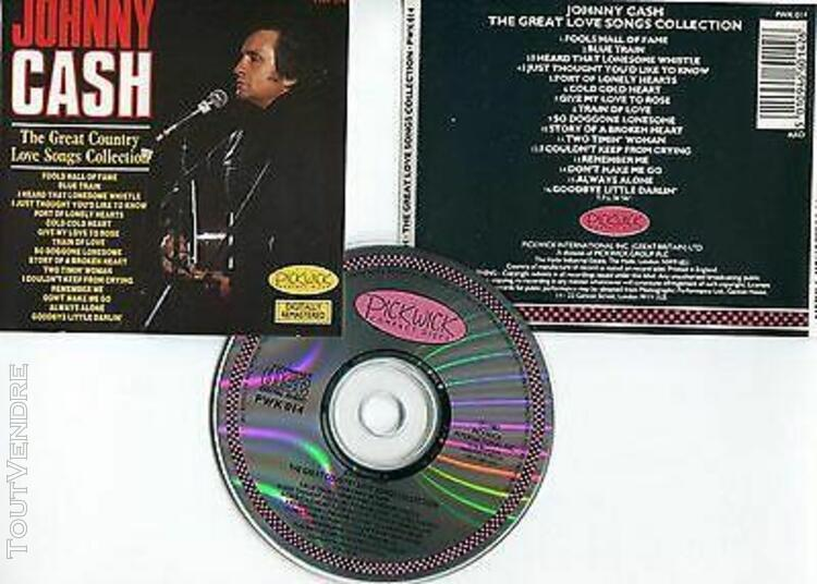 "Johnny cash ""the great love songs collection"" (cd) 1987"