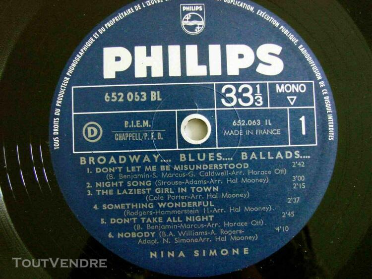 Nina simone broadway blues ballads biem 1964 nm