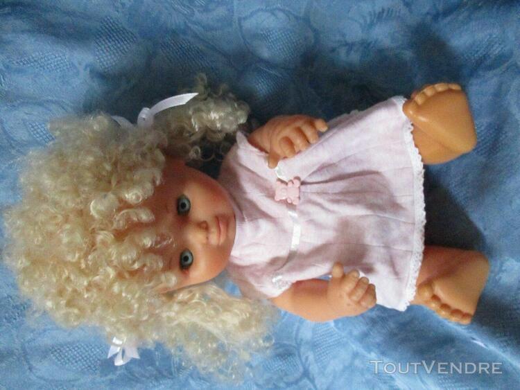 Poupée bébé de famosa blonde de 35 cm vintage muñeca de