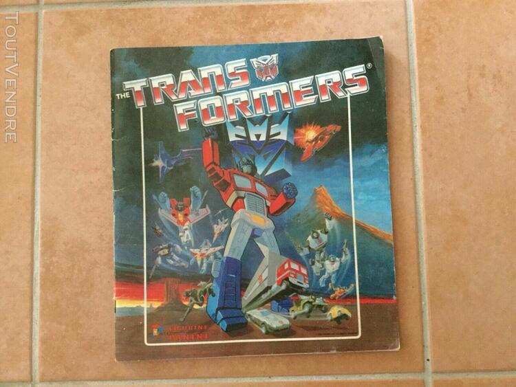 The transformers album panini - incomplète - 1986 en