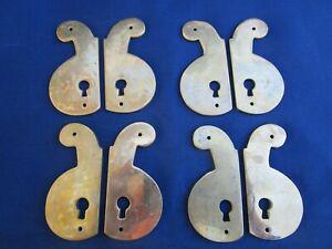 8 entrées de serrure laiton portes meubles hauteur 8,2 cm