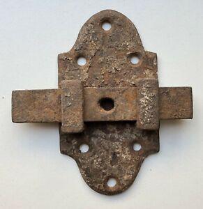 Ancien verrou targette serrure fer french antique lock door