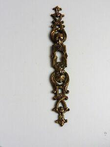 Ancienne plaque entrée de serrure en bronze rosace clef