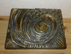 Ancienne poignée porte boutique 1960 bronze massif clanche