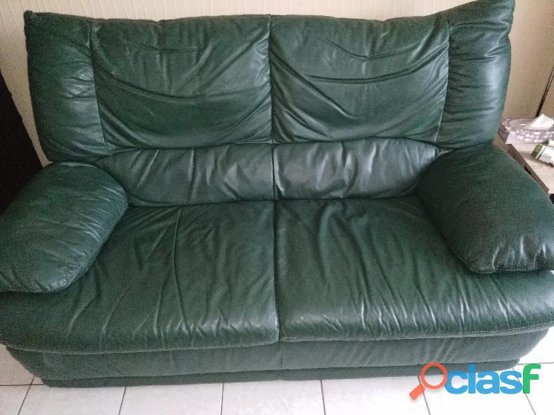 Canapé cuir 2 places