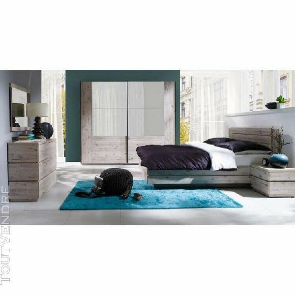 Chambre à coucher complète riccardo. lit, sommier, tables
