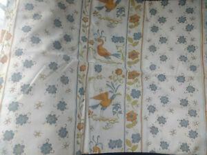 Deux rideaux coton provençal