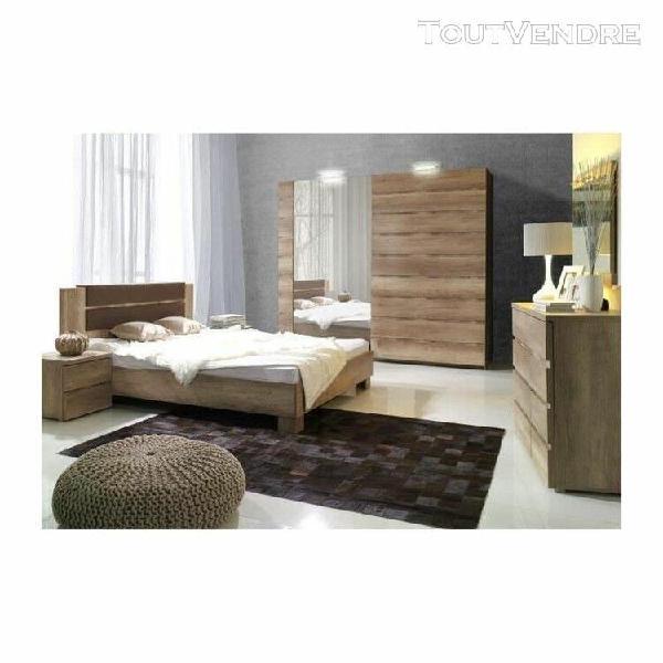 Ensemble design pour chambre à coucher miro. lit avec