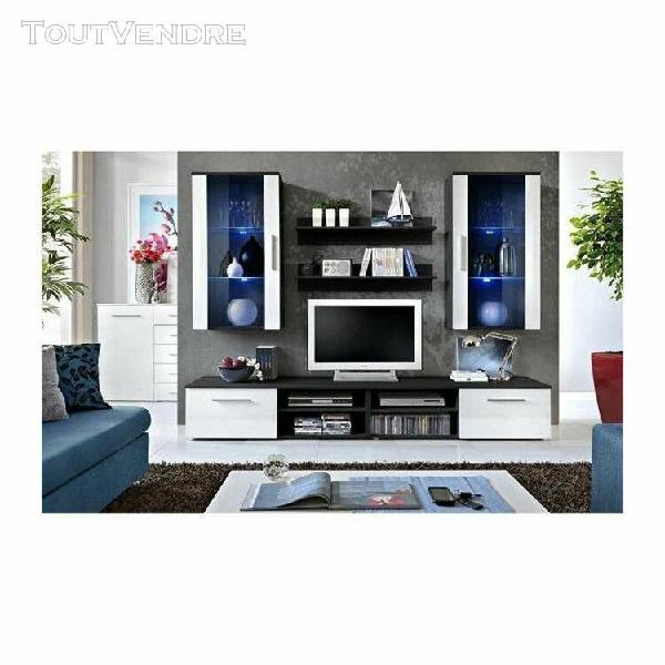 Ensemble meuble salon galino g design, coloris noir et blanc