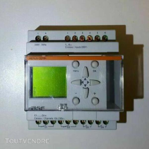 Merlin gerin 15720 itm 4c-6e interrupteur horloge 4 canaux
