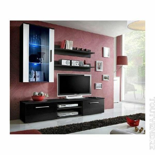 Meuble tv galino e design, coloris noir et blanc. meuble mod