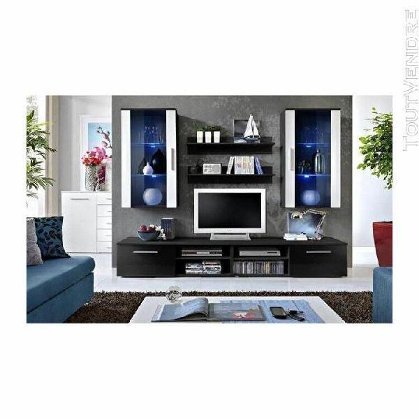 Meuble tv galino g design, coloris noir et blanc. meuble mod