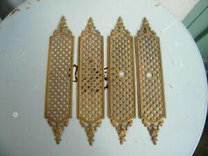 Plaques propreté bronze doré poignée porte serrure déco