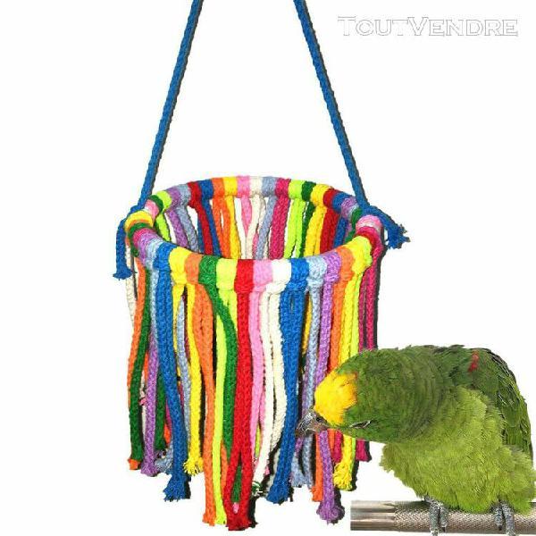 Animaux oiseau hanging jouet oiseau cage de construction pen