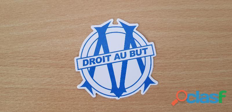 Autocollant sticker olympique de marseille football club 7x7 cm