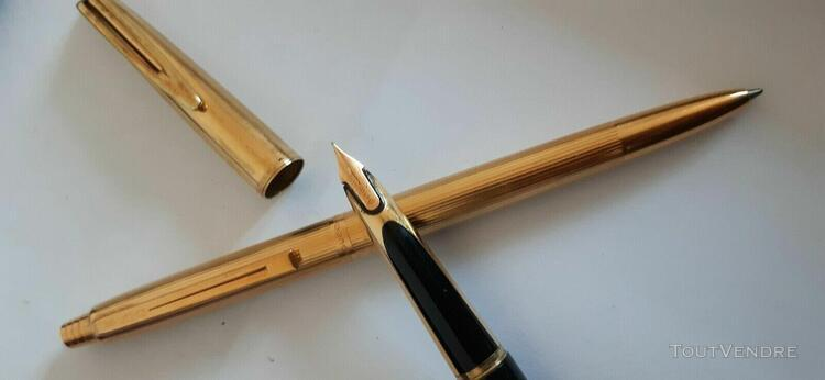 Collection waterman made in france plume or 18k 750 paris +