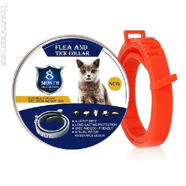 Enlève puces et les tiques collier chiens chats jusqu'à 8